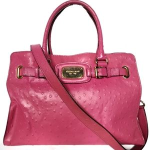 Michael Kors Large Ostrich Embossed Satchel